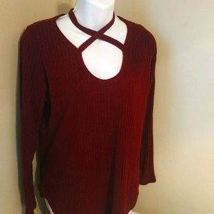 3 FOR 20 SALE Sexy burgandy top